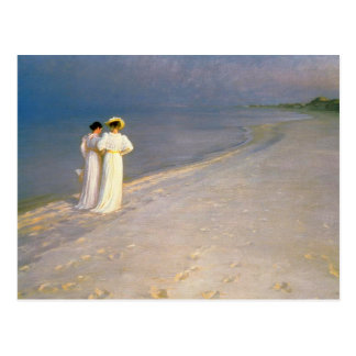 "Kroyer's ""Summer Afternoon on Skagen Beach"" Postcard"