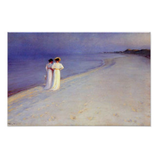 "Kroyer's ""Summer Afternoon on Skagen Beach"" Poster"