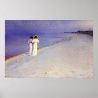 """Kroyer's """"Summer Afternoon on Skagen Beach"""" Poster"""