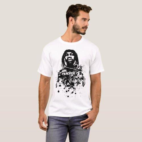 Krs One The Teacher Rapper White teacher science T-Shirt