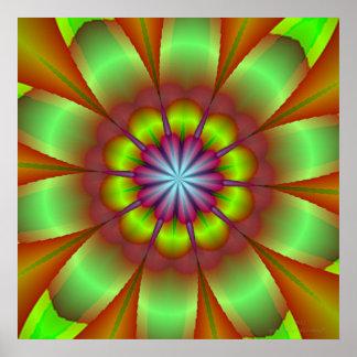 KRU Bouquet • Fractal Kaleidoscope Poster