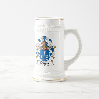 Kruger Family Crest 18 Oz Beer Stein