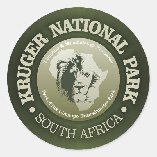 Kruger National Park Classic Round Sticker