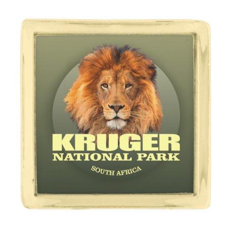 Kruger NP (Lion) WT Gold Finish Lapel Pin