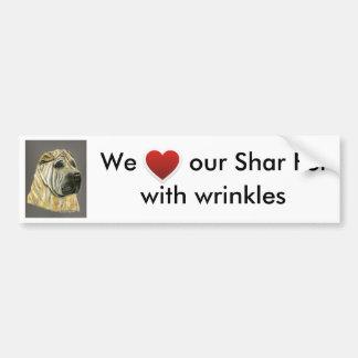 Kruger - Shar Pei Dog Art Car Bumper Sticker