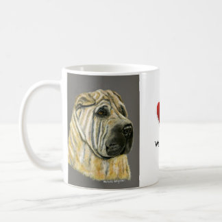 Kruger - Shar Pei Dog Art Classic White Coffee Mug