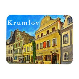 Krumlov. Fragment of urban architecture. Magnet
