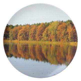 Krumme Lanke in Autumn Melamine Plate