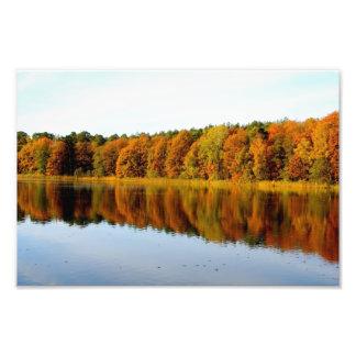 Krumme Lanke in Autumn Photo Print