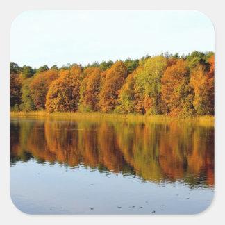 Krumme Lanke in Autumn Square Sticker