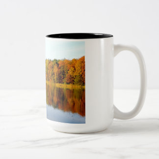 Krumme Lanke in Autumn Two-Tone Coffee Mug