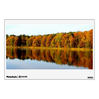 Krumme Lanke in Autumn Wall Sticker