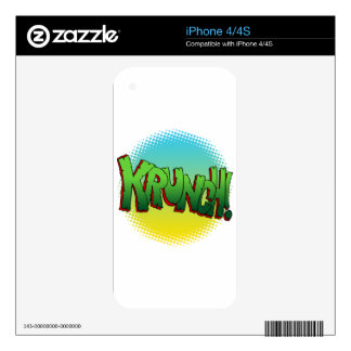 Krunch Comic Book Text Sound Effect Skin For The iPhone 4S