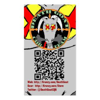 Krunzy.com y tarjetas de visitas de la cabra de la tarjetas de visita