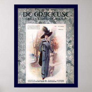 KRW 1907 Fashion Magazine Cover Poster
