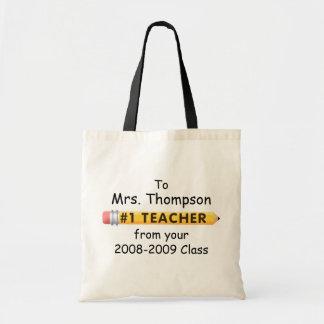 KRW #1 Teacher Custom Name and Date Tote Bag