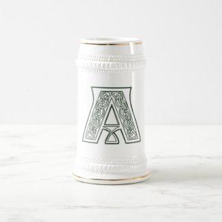 KRW - A - Celtic Monogram Stein 18 Oz Beer Stein