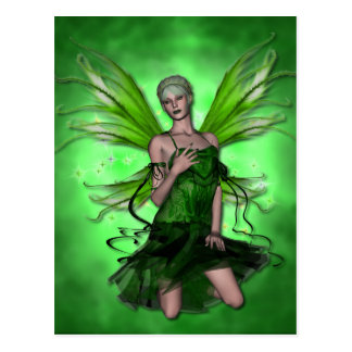 KRW Absinthe The Green Fairy Postcard