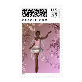 KRW African American Lana Fairy Fantasy Stamp