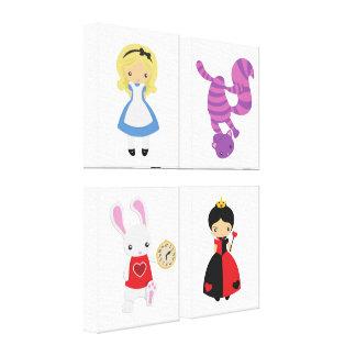 KRW Alice in Wonderland Quartet Wrapped Canvas