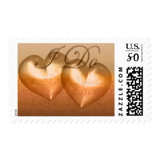 KRW Amber Two Hearts I Do Wedding Postage