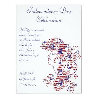 KRW American Beauty 4th of July Invitation