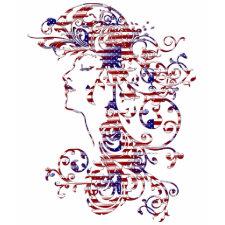 KRW American Beauty Patriotic Profile Tank shirt
