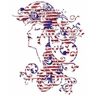 KRW American Beauty Patriotic Profile shirt