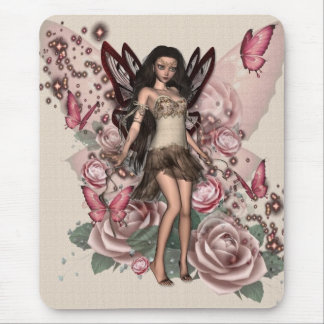KRW Antique Rose Faery Mouse Pad