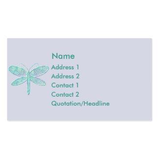 KRW Aqua Dragonfly Business Card