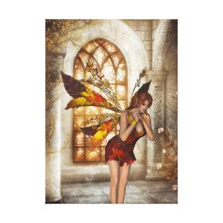 KRW Autumn Fantasy Faery Art Stretched Canvas Prints