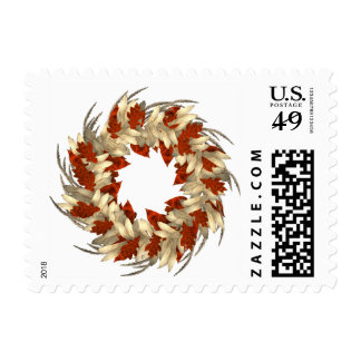 KRW Autumn Wreath Stamp