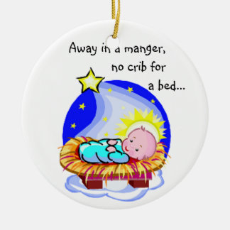 KRW Away in a Manger Christmas Carol Ornament