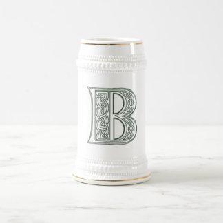 KRW - B - Celtic Monogram Stein 18 Oz Beer Stein