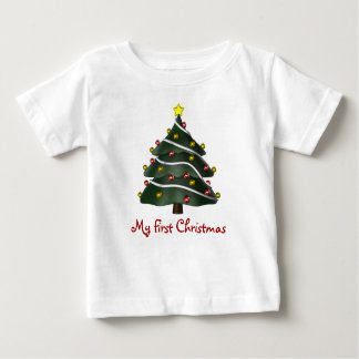 KRW Baby's First Christmas Tree Baby T-Shirt