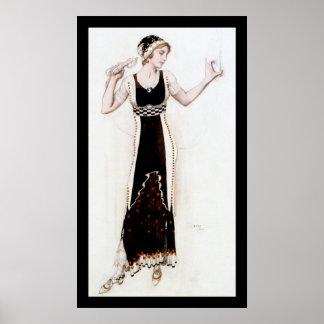 KRW Bakst Fantasy on Modern Costume 1912 Print