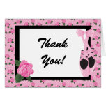 KRW Ballerina Rose Thank You Note Greeting Card