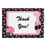 KRW Ballerina Rose Thank You Note Greeting Cards