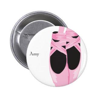 KRW Ballerina Shoes Custom Birthday Button Favor