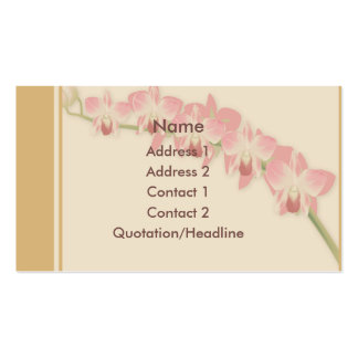 KRW Beautiful Orchids Custom Business Card