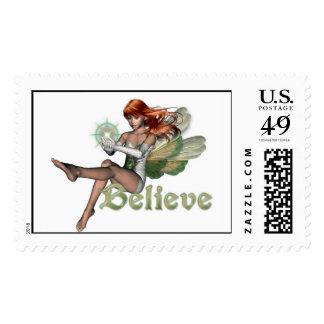 KRW Believe in Faeries Red Head Stamp