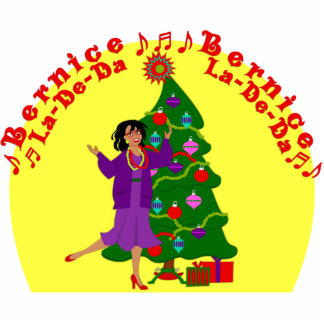 KRW Bernice La De Da Funny Christmas Display Cut Outs