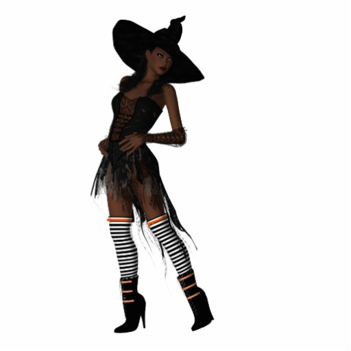 KRW Bewitching African American Witch Ornament Cut Out