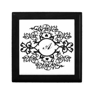 KRW Black Scroll Custom Monogram Gift Box