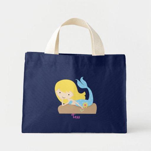 KRW Blonde Mermaid Custom Name Tote Bag