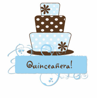 KRW Blue and Brown Quinceanera Centerpiece Cutout