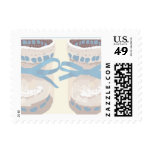 KRW Blue Baby Booties Postage Stamps