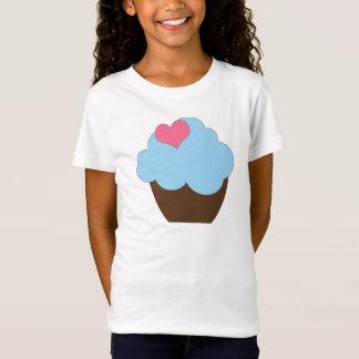 KRW Blue Brown Polka Dot Birthday Cupcake Shirt