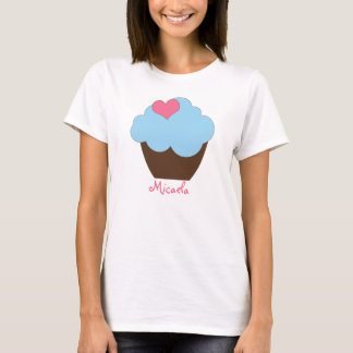 KRW Blue Brown Polka Dot Custom Cupcake Shirt
