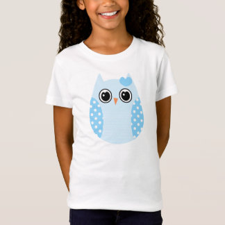 KRW Blue Brown Polka  Owl Shirt